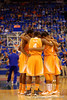 The Vols huddle together before tip off.  Florida Gators vs Tennessee Vols.  February 28th, 2015. Gator Country photo by David Bowie.