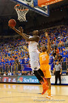 Florida Gators forward Dorian Finney-Smith with a reverse lay up in the second half.  Florida Gators vs Tennessee Vols.  February 28th, 2015. Gator Country photo by David Bowie.