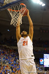 Florida Gators center Jon Horford with a massive dunk during the first half.  Florida Gators vs Tennessee Vols.  February 28th, 2015. Gator Country photo by David Bowie.