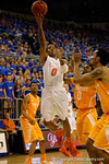 Florida Gators guard Kasey Hill shoots a lay up during the first half.  Florida Gators vs Tennessee Vols.  February 28th, 2015. Gator Country photo by David Bowie.