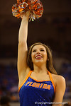 A Florida Gators Dazzler dances for the fans during the second half.  Florida Gators vs Tennessee Vols.  February 28th, 2015. Gator Country photo by David Bowie.