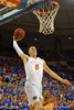 Florida Gators forward Alex Murphy flies through the air and dunks the ball during the first half.  Florida Gators vs Tennessee Vols.  February 28th, 2015. Gator Country photo by David Bowie.