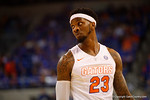 Florida Gators forward Chris Walker during a tv timeout in the first half.  Florida Gators vs Tennessee Vols.  February 28th, 2015. Gator Country photo by David Bowie.