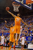 Tennessee Volunteers forward Derek Reese stretches out for a defensive rebound during the second half.  Florida Gators vs Tennessee Vols.  February 28th, 2015. Gator Country photo by David Bowie.