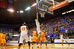 Florida Gators forward Jacob Kurtz drives the paint and lays the ball in during the second half.  Florida Gators vs Tennessee Vols.  February 28th, 2015. Gator Country photo by David Bowie.