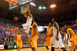 Florida Gators center Jon Horford dunks the ball in during the first half.  Florida Gators vs Tennessee Vols.  February 28th, 2015. Gator Country photo by David Bowie.