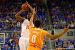 Florida Gators forward Dorian Finney-Smith makes a three pointer during the first half.  Florida Gators vs Tennessee Vols.  February 28th, 2015. Gator Country photo by David Bowie.