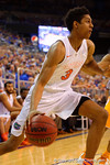 Florida Gators forward Devin Robinson drives toward the basket during the second half.  Florida Gators vs Tennessee Vols.  February 28th, 2015. Gator Country photo by David Bowie.