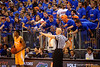The Rowdy Reptiles attempt to make Tennessee Volunteers guard Josh Richardson mess up an inbounds pass during the second half.  Florida Gators vs Tennessee Vols.  February 28th, 2015. Gator Country photo by David Bowie.