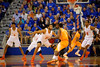The Florida Gators back on defense during the first half.  Florida Gators vs Tennessee Vols.  February 28th, 2015. Gator Country photo by David Bowie.