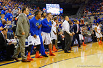 The Gators bench reacts after a massive dunk in the second half by Florida Gators forward Devin Robinson.  Florida Gators vs Tennessee Vols.  February 28th, 2015. Gator Country photo by David Bowie.