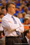 Florida Gators head coach Billy Donovan walks the sideline during the second half.  Florida Gators vs Tennessee Vols.  February 28th, 2015. Gator Country photo by David Bowie.