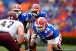 Florida Gators quarterback Treon Harris awaits a snap during the first quarter.  Florida Gators vs Eastern Kentucky Colonels.  November 22th, 2014. Gator Country photo by David Bowie.