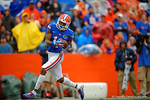 Florida Gators wide receiver Demarcus Robinson with a touchdown reception in the third quarter.  Florida Gators vs Miami Hurricanes.  November 17th, 2014. Gator Country photo by David Bowie.