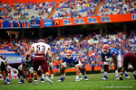 Florida Gators quarterback Jeff Driskel gets set for a snap in the second quarter.  Florida Gators vs Eastern Kentucky Colonels.  November 22th, 2014. Gator Country photo by David Bowie.