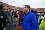 Florida Gators Head Coach Will Muschamp after the win.  Florida Gators vs Miami Hurricanes.  November 17th, 2014. Gator Country photo by David Bowie.