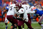 Eastern Kentucky quarterback Bennie Coney rushes downfield.  Florida Gators vs Eastern Kentucky Colonels.  November 22th, 2014. Gator Country photo by David Bowie.