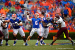 Florida Gators quarterback Jeff Driskel throws downfield during the third quarter.  Florida Gators vs Eastern Kentucky Colonels.  November 22th, 2014. Gator Country photo by David Bowie.