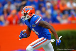 Florida Gators wide receiver Andre Debose runs a kickoff return upfield during the first quarter.  Florida Gators vs Eastern Kentucky Colonels.  November 22th, 2014. Gator Country photo by David Bowie.