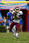 EKU defensive back Buck Solomon drops an interception in the fourth quarter.  Florida Gators vs Eastern Kentucky Colonels.  November 22th, 2014. Gator Country photo by David Bowie.