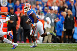 Florida Gators running back Kelvin Taylor rushes into the endzone for a touchdown to put the Gators up 10-0.  Florida Gators vs Eastern Kentucky Colonels.  November 22th, 2014. Gator Country photo by David Bowie.