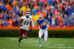 Florida Gators wide receiver Quinton Dunbar attempts to run down a long pass during the third quarter.  Florida Gators vs Eastern Kentucky Colonels.  November 22th, 2014. Gator Country photo by David Bowie.