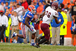 Florida Gators running back Adam Lane Jr rushes downfield in the fourth quarter.  Florida Gators vs Eastern Kentucky Colonels.  November 22th, 2014. Gator Country photo by David Bowie.