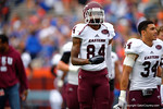 EKU Colonels wide receiver Tranard Chester during pre-game.  Florida Gators vs Eastern Kentucky Colonels.  November 22th, 2014. Gator Country photo by David Bowie.