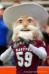 EKU's mascot the Colonel before the start of the game.  Florida Gators vs Eastern Kentucky Colonels.  November 22th, 2014. Gator Country photo by David Bowie.