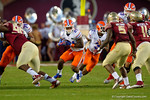 Florida Gators running back Kelvin Taylor rushes up the middle during the second half.  Florida Gators vs FSU Seminoles.  November 22th, 2014. Gator Country photo by David Bowie.