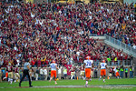 The FSU fans celebrate as FSU linebacker Terrance Smith returns an interception for a touchdown in the first quarter.  Florida Gators vs FSU Seminoles.  November 22th, 2014. Gator Country photo by David Bowie.