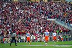 The FSU fans celebrate as FSU linebacker Terrance Smith returns an interception for a touchdown in the first quarter.  Florida Gators vs FSU Seminoles.  November 22th, 2014. Gator Country photo by David Bowie.