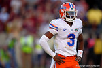 Florida Gators quarterback Treon Harris looks to the sideline during the second quarter.  Florida Gators vs FSU Seminoles.  November 22th, 2014. Gator Country photo by David Bowie.