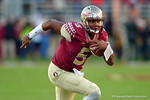 FSU quarterback Jameis Winston rushes downfield during the second quarter.  Florida Gators vs FSU Seminoles.  November 22th, 2014. Gator Country photo by David Bowie.