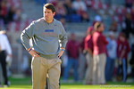 Florida Gators Head Coach Will Muschamp walks the field during pre-game warmups.  Florida Gators vs FSU Seminoles.  November 22th, 2014. Gator Country photo by David Bowie.