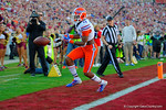 Florida Gators wide receiver Demarcus Robinson drops a touchdown pass during the first quarter.  Florida Gators vs FSU Seminoles.  November 22th, 2014. Gator Country photo by David Bowie.