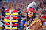 Chief Osceola poses for the camera during the third quarter.  Florida Gators vs FSU Seminoles.  November 22th, 2014. Gator Country photo by David Bowie.