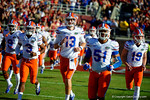 The Florida Gators take the field for the start of the game.  Florida Gators vs FSU Seminoles.  November 22th, 2014. Gator Country photo by David Bowie.