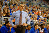 Florida Gators head coach Billy Donovan walks the court during the second half.  Florida Gators vs UCONN Huskies.  January 3rd, 2015. Gator Country photo by David Bowie.