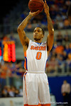 Florida Gators guard Kasey Hill shooting a free throw in the first half.  Florida Gators vs UCONN Huskies.  January 3rd, 2015. Gator Country photo by David Bowie.