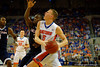 Florida Gators forward Alex Murphy drives to the basket during the first half.  Florida Gators vs UCONN Huskies.  January 3rd, 2015. Gator Country photo by David Bowie.