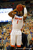 Florida Gators guard Eli Carter with a shot attempt during the first half.  Florida Gators vs UCONN Huskies.  January 3rd, 2015. Gator Country photo by David Bowie.