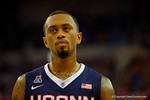 UCONN Huskies guard Ryan Boatright walks downcourt during the first half.  Florida Gators vs UCONN Huskies.  January 3rd, 2015. Gator Country photo by David Bowie.