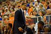 UCONN Huskies head coach Kevin Ollie shares his disappointment with his team during the first half.  Florida Gators vs UCONN Huskies.  January 3rd, 2015. Gator Country photo by David Bowie.