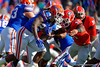 The Florida Gators upset the Georgia Bulldogs 38-20.