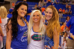 Three Florida Gators fans pose for the camera during the 2015 Florida Gators Fan Day.  August 15th, 2015.  Gator Country Photo by David Bowie.