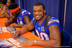 Florida Gators defensive lineman Jonathan Bullard smiles for the camera during the 2015 Florida Gators Fan Day.  August 15th, 2015.  Gator Country Photo by David Bowie.