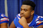 Florida Gators defensive lineman Caleb Brantley during the 2015 Florida Gators Fan Day.  August 15th, 2015.  Gator Country Photo by David Bowie.