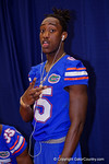 Florida Gators defensive back Deiondre Porter poses for the camera during the 2015 Florida Gators Fan Day.  August 15th, 2015.  Gator Country Photo by David Bowie.
