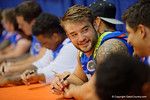 Florida Gators defensive lineman Joey Ivie during the 2015 Florida Gators Fan Day.  August 15th, 2015.  Gator Country Photo by David Bowie.
